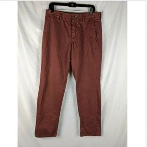 Gap Burgundy Slim Fit Button Fly Chino Pants